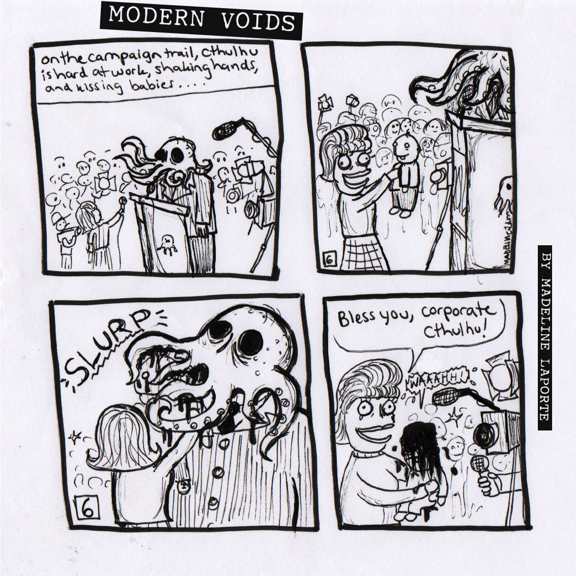 corporation modern voids posted in art comics corporate cthulhu politics image format and tagged babies comic strip corporation cthulhu culture current events