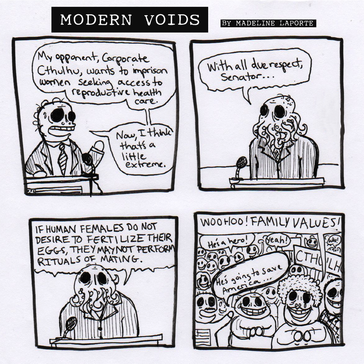 corporation modern voids posted in art comics corporate cthulhu equality politics image format and tagged comic strip corporation cthulhu culture current events debate